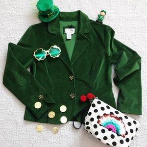 Live a Little Jackets & Coats - green velvet blazer